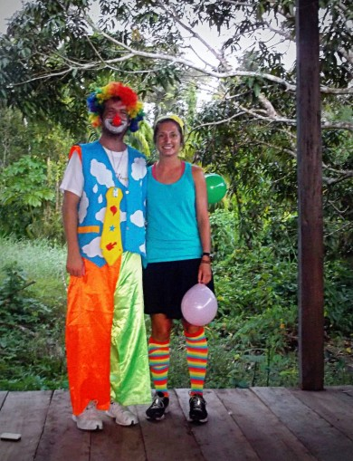My sister and I in some of our clown costume. Photo Credit – Anna Friesen